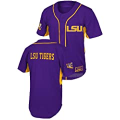 Youth LSU Tigers Fielder College Baseball Jersey by Colosseum by GametimeUSA