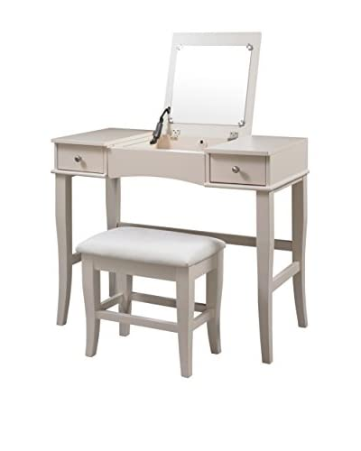 Linon Home Décor Jackson Vanity Set, Cream