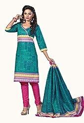 HIFI Ethnicwear Women's Dress Material GREEN_Free Size