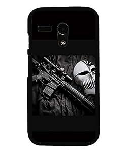 printtech Rifle Mask Lethal Back Case Cover for Motorola Moto G X1032::Motorola Moto G (1st Gen)