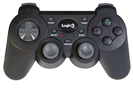 Playstation 2 - Dual Shock Controller Gamepad, schwarz