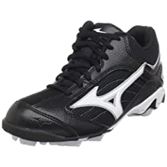 Buy Mizuno 9-Spike Franchise Mid G5 Baseball Cleat (Little Kid Big Kid) by Mizuno