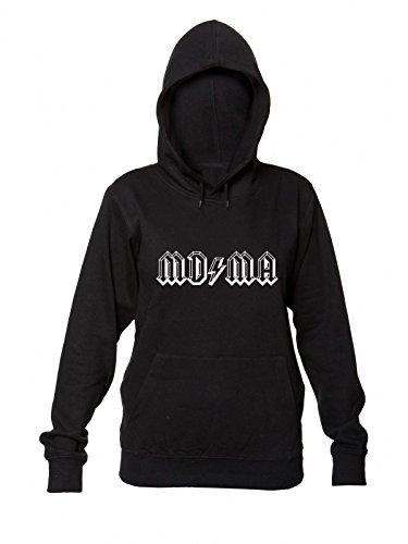 MDMA AC/DC Style Letters Borders Women's Hooded Sweatshirt Small