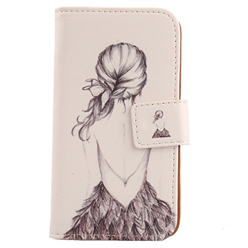 Click to buy Lankashi Pattern Design Flip PU Leather Cover Skin Protection Case for Lenovo A269i (Back Girl) - From only $29.99