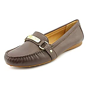 Coach Felisha Womens Size 6 Brown Moc Leather Loafers Shoes