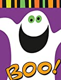 50 FRIENDLY GHOST PURPLE HALLOWEEN KIDS TRICK OR TREAT SWEET LOOT BAGS 11x16cm