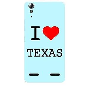 Skin4gadgets I love Texas Colour - Light Blue Phone Skin for LENOVO A6000