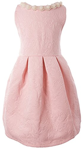 Ipuang Little Girls' Lovely Pattern Dresses for Special Occasions 2t Pink