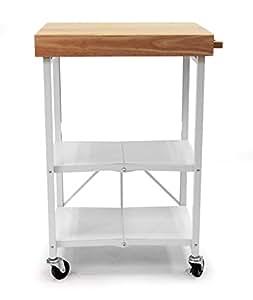 Amazon.com - Origami Folding Island Kitchen Cart (White ... - photo#3