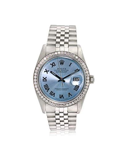 Rolex Men's Pre-Owned Datejust Diamond Ice Blue/Stainless Steel Jubilee Watch