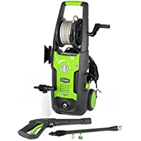 GreenWorks GPW1702 13 amp 1700 PSI 1.2 GPM Electric Pressure Washer with Hose Reel