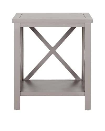 Safavieh Candence Cross Back End Table, Grey