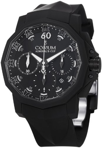 Corum Admiral's Cup Challenger 44 Chrono Men's Black Rubber Strap Automatic Watch 753.801.02/F371 AN21
