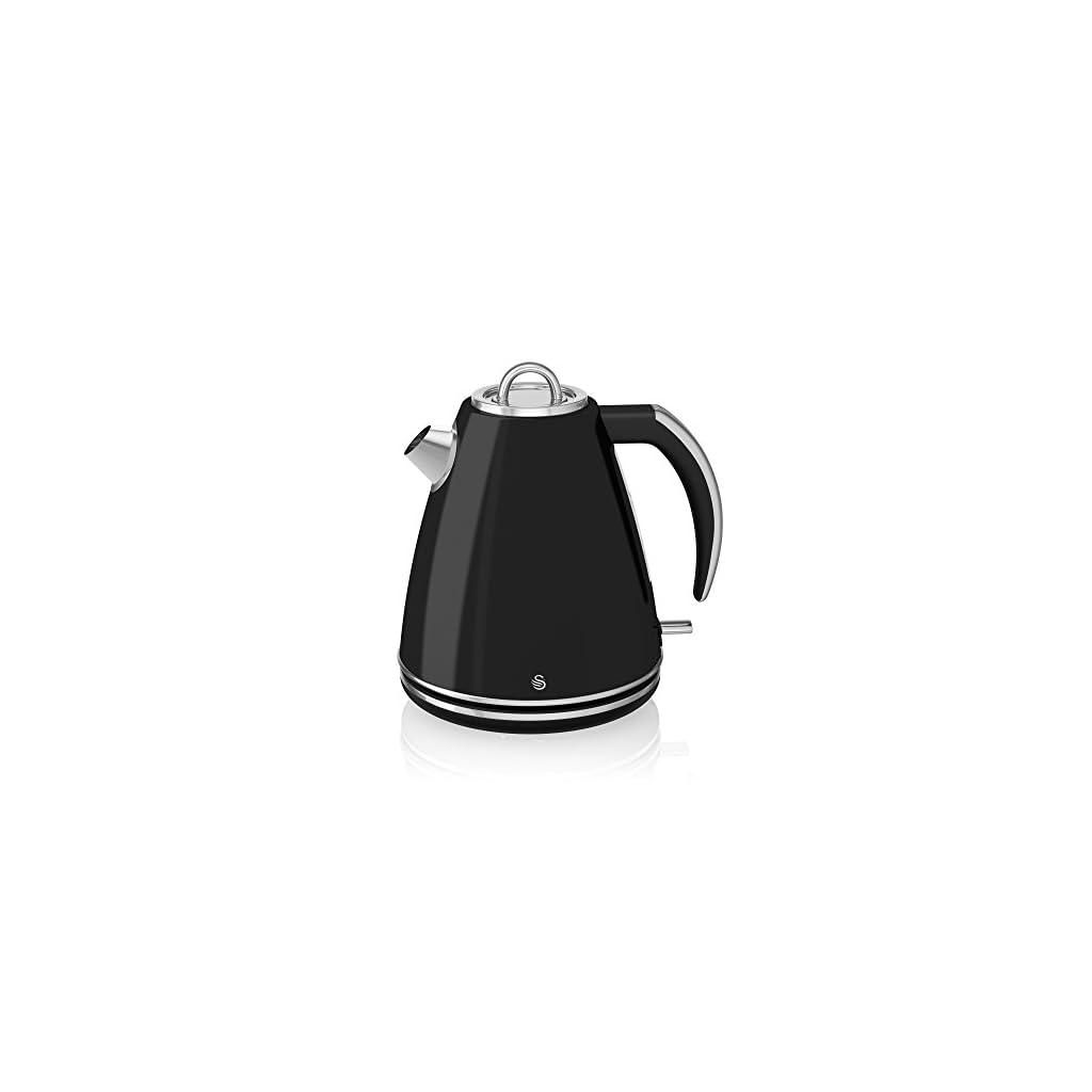 Swan Jug Kettle, 1.5 Litre, 3000 W, Black