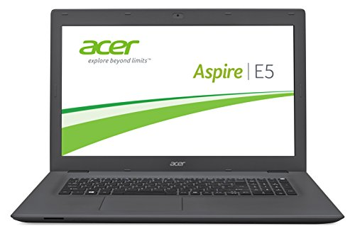 Acer Aspire E 17 (E5-772G-52AK) 43,9 cm (17,3 Zoll Full HD) Notebook (Intel Core i5-5200U, 8GB RAM, 1000GB SSHD, NVIDIA GeForce 940M, DVD, Win 10 Home) schwarz