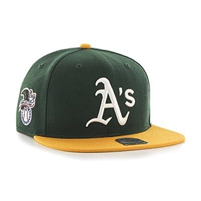 47 Brand Oakland Athletics Two-Toned Sure Shot Mens Snapback Hat B-SRSTT18WBP-DG