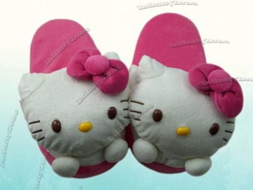 Cheap Hello Kitty Plush Hot Pink Slipper (Universal Size for feet up to 7.5″ long) (B0058KJIIC)