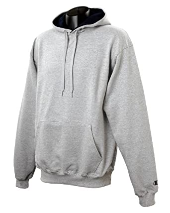 Champion 9.7 oz., 90/10 Cotton Max Pullover Hood - SILVER GRAY/NAVY - S