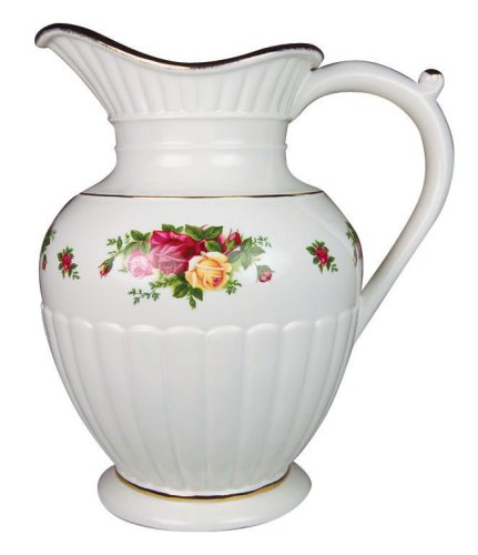 Royal Albert Old Cournty Roses 10-inch Fluted Pitcher