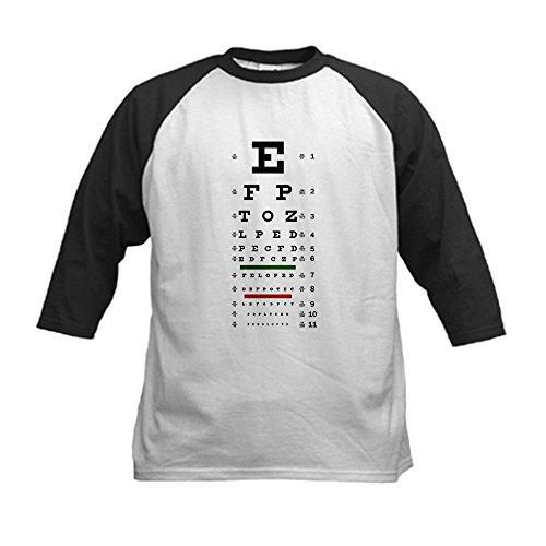 Royal Lion Kids Baseball Jersey Optometrist Opthamologist Eye Chart youth baseball jersey color white maroon size medium