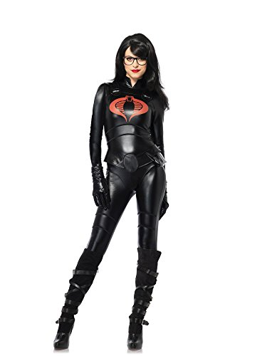 4PCS Baroness,wet look catsuit, belt, gloves, and faux frames-GI85262