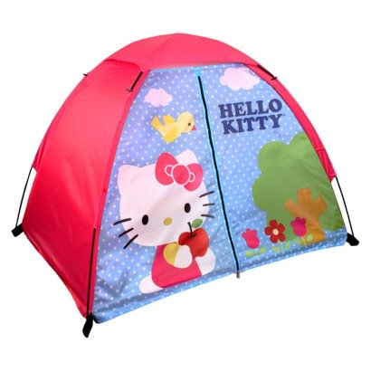 Hello-Kitty-Youth-2-Pole-Dome-Tent-with-Zip-T-Doors-4-Feet-x-3-Feet-x-36-Inch