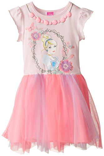 Disney Little Girls' Cinderella Dress with Mesh Skirt