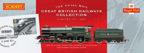Hornby R3074 The Royal Mail British Stamps Collection GWR 'King William IV' 00 Gauge Limited Edition Steam Locomotive