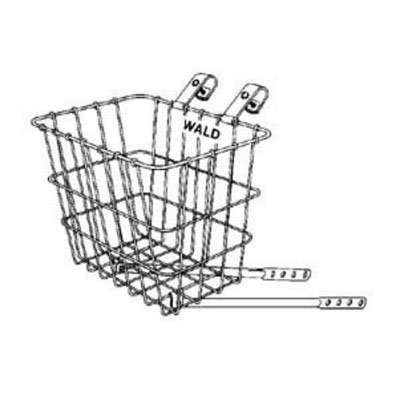Wald 124 Front Bicycle Basket (11.75 X 8 X 9, Black) front-657983