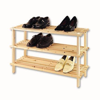 XL-Schuhregal-Natur-Holz-3-Bden-Holz-Schuhstnder-Schuh-Regal-Holzregal-Schuhablage-Shoe-Rack