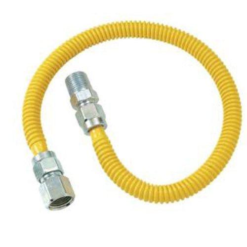 Cssd4K-24 1/2 In. Mip X 1/2 In. Fip X 24 In. Procoat Gas Appliance Connector 1/2 In. Od (85,000 Btu)Brasscraft Gas Connector -Yow