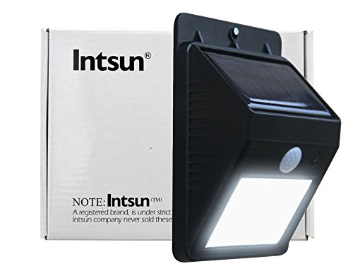 Intsun® Bright Outdoor Led Light Wireless Solar Powered Security Motion Sensor Led Light, Weatherproof - No Tools Required, Motion Sensor-Detector Activated / For Patio, Deck, Yard, Garden, Home, Driveway, Stairs, Outside Wall / Wireless Exterior Security