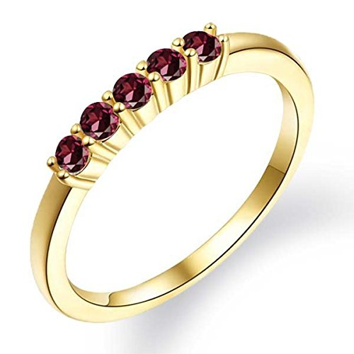 045-Ct-Round-Red-Rhodolite-Garnet-18K-Yellow-Gold-Plated-Silver-Ring