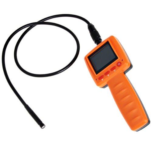 "Wmicro Industrial Handheld Endoscope 99D 2.4"" Lcd Video Borescope Inspection Camera With 10Mm Camera Head Diameter-Orange"