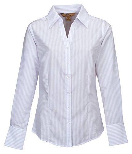 Tri-Mountain Women'S Wrinkles Resistant Dress Shirt, Lavender, Xxx-Large front-732789