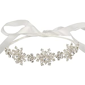 Ever Faith Silver-Tone Austrian Crystal Wedding Snowflake Flower Hair Band Clear N04974-1