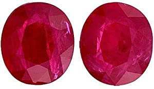 Unbelievable Size! Well Matched Pair of Outstanding GRS Certified Ruby Genuine Gems, Oval Cut, 14.91 carats