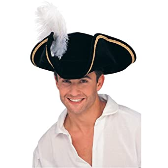 Rubie's Costume Buccaneer Tricorn Hat, Black, One Size