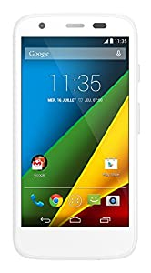 Motorola G 4G Smartphone Wi-Fi Android 4.4 KitKat 8 Go Micro SD Blanc