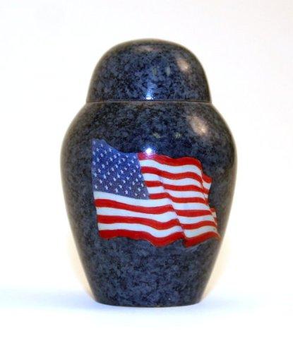 Star Legacy Brass Keepsake with Velvet Bag, American Flag