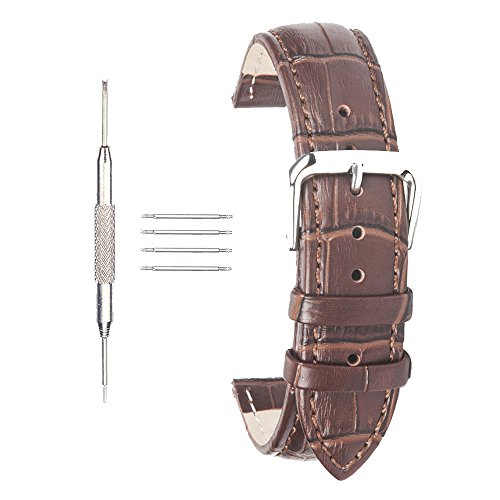 ACUNION™ 18mm Calfskin Leather Watch Strap Replacement Clasp Watch Band Brown (Leather Strap For Omega Watch compare prices)