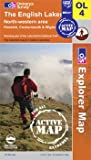 Map The English Lake District: NW area OS Explorer Active Map OL4