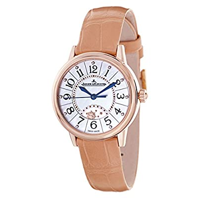 Jaeger Lecoultre Rendez-vous Night & Day Mother of Pearl Dial Gold Leather Ladies Watch Q3462590