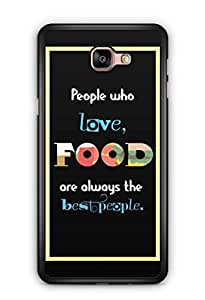YuBingo Food Lovers are Best People Mobile Case Back Cover for Samsung Galaxy A9