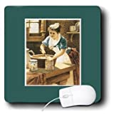 mp_170503_1 BLN Vintage Trade Cards Ad Art Reproductions - Victorian Era Woman in the Kitchen Mixing Batter with Spices - Mouse Pads