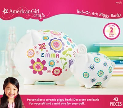 American Girl Crafts Rub-on Art Kit, Piggy Bank