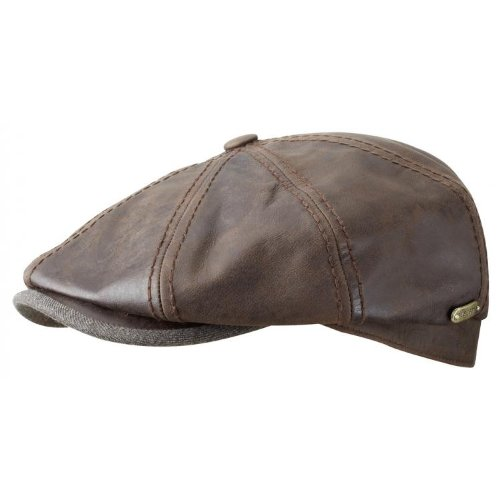 814fd173447 Flat Caps (UK)  Stetson Hatteras Leather Goatskin Newsboy Cap (XXL)