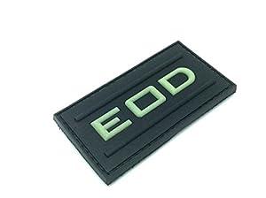 EOD Brillent Dans Le Noir Airsoft Velcro PVC Patch