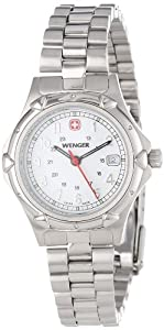 Wenger Women's 70209 Standard Issue White Dial Steel Bracelet Watch