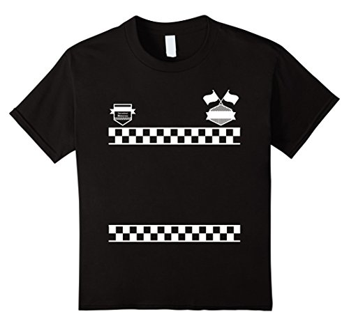 Kids Race Car Driver Racer Kids/Adult Halloween Costume Shirt 8 Black